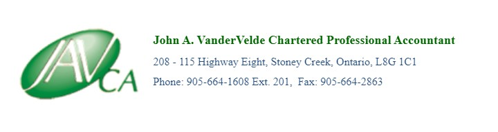 John A. VanderVelde Chartered Professional Accountant